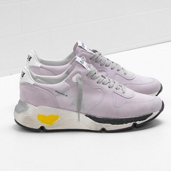 f161a660e Golden Goose Shoes | New Running Sole Lilac Suede Silver | Poshmark